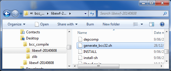 Build a LibEWF dll to use with IsoBuster